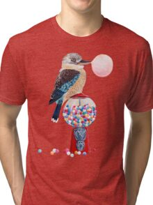 Bird gumball machine Kookaburra Tri-blend T-Shirt