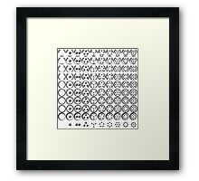 Centesimal Number Chart Lg-Sm Framed Print