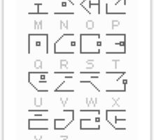 Hollowed Alphabet Sticker