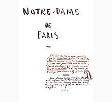 Notre-Dame de Paris Manuscript Unisex T-Shirt