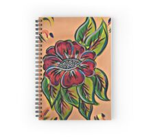 Festival Flowers Red Multi Spiral Notebook