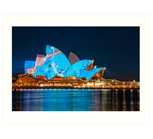 Vivid Opera House from Circular Quay Art Print