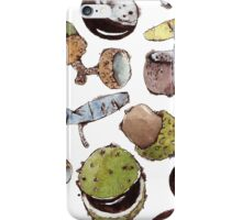 Watercolors Seeds and Nuts iPhone Case/Skin