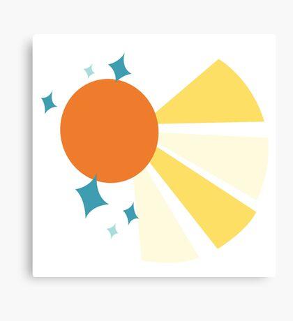 My little Pony - Sunburst Cutie Mark V2 Canvas Print