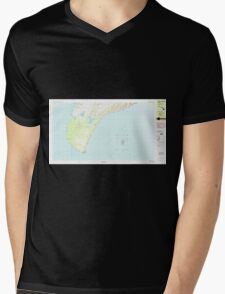 USGS TOPO Map Hawaii HI Niihau South 349819 1984 25000 Mens V-Neck T-Shirt