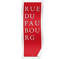 Rue du Faubourg - Paris Poster