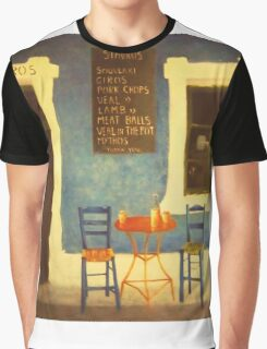 Table For Two Mykonos Greece Graphic T-Shirt