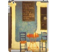 Table For Two Mykonos Greece iPad Case/Skin