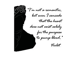 Quote Violet of Downton Abbey Photographic Print