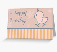 """Happy Birthday"" Baby Chick Greeting Card"