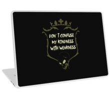 Cool Sayings T-Shirts / Confuse Weakness Laptop Skin