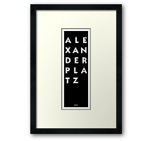 Alexanderplatz - Berlin Framed Print