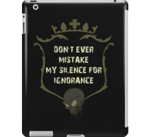 Ignorance Mistake Silence iPad Case/Skin