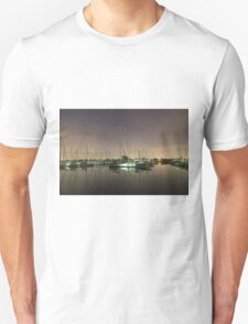Brighton Marina Boats at Night Unisex T-Shirt