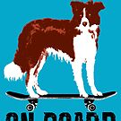 Border Collie on board by monsterplanet