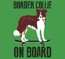 Border Collie on board One Piece - Short Sleeve