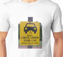 penguin parade warning sign Unisex T-Shirt