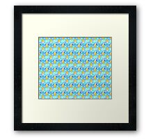 Banana Blue Scale Pattern Framed Print