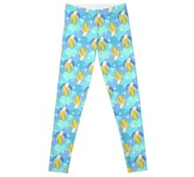 Banana Blue Scale Pattern Leggings