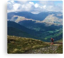 Lake District Fell Runner Canvas Print