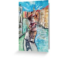 Guinea Pig in Venice Greeting Card