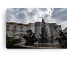 La Fontana di Diana - Fountain of Diana Silver Jets and Sky Drama Canvas Print