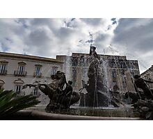 La Fontana di Diana - Fountain of Diana Silver Jets and Sky Drama Photographic Print