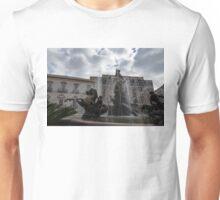 La Fontana di Diana - Fountain of Diana Silver Jets and Sky Drama Unisex T-Shirt