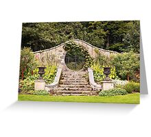 Leith Hall Garden Architectural Details - (Huntly, Aberdeenshire, Scotland) Greeting Card