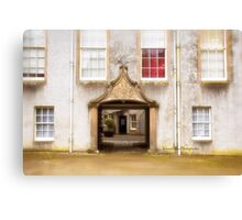 Leith Hall Architectural Details - (Huntly, Aberdeenshire, Scotland) Canvas Print