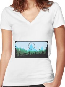 Lord of the Rings Travel Design Women's Fitted V-Neck T-Shirt