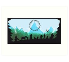 Lord of the Rings Travel Design Art Print