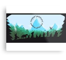 Lord of the Rings Travel Design Metal Print
