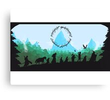 Lord of the Rings Travel Design Canvas Print