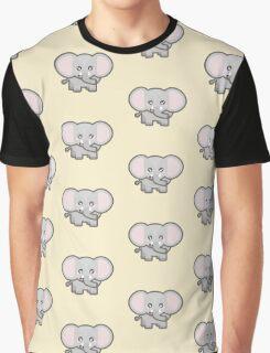 Kawaii Elephant Graphic T-Shirt