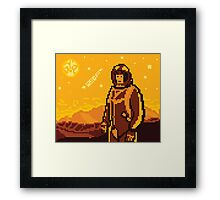 Like Firewatch... but space. Framed Print
