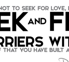 seek and find barriers within - rumi Sticker