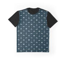 Nautical Pattern - Dark Graphic T-Shirt