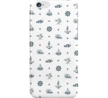 Nautical Pattern - Light iPhone Case/Skin