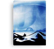Blue Space Song Canvas Print
