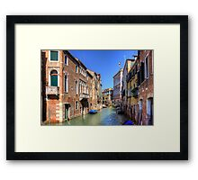 Rio di San Polo on a Slow Day Framed Print