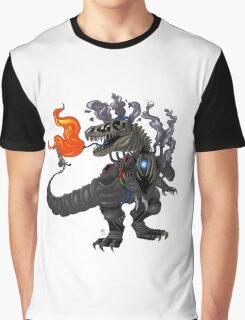 Steampunk T-rex Robot Graphic T-Shirt