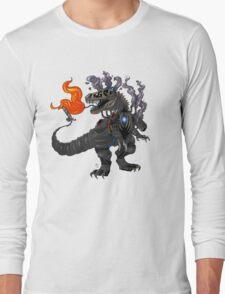 Steampunk T-rex Robot Long Sleeve T-Shirt