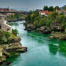 "Carinski Most ""New Bridge"" Mostar by Colin Metcalf"