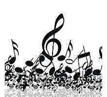 Music Note's BW 2 Photographic Print