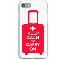 Keep Calm and Carry on Luggage iPhone Case/Skin