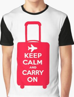 Keep Calm and Carry on Luggage Graphic T-Shirt
