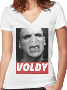 VOLDEMORT Women's Fitted V-Neck T-Shirt
