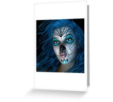 Sugar Doll Blue Greeting Card
