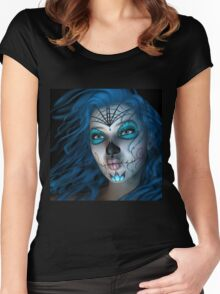 Sugar Doll Blue Women's Fitted Scoop T-Shirt